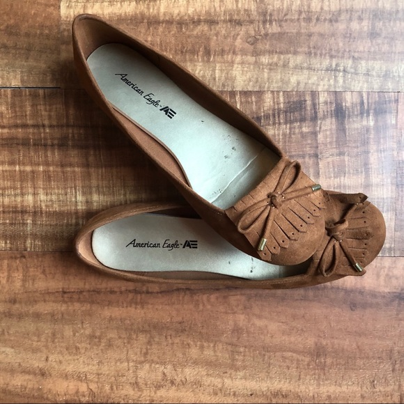 bea1252f850443 American Eagle By Payless Shoes - American Eagle Suede Brown Flat Shoes